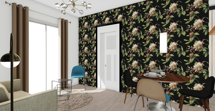 Parisian tiny flat Interior Design Render