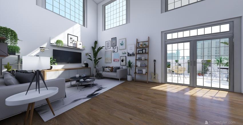 Scandi Home Interior Design Render