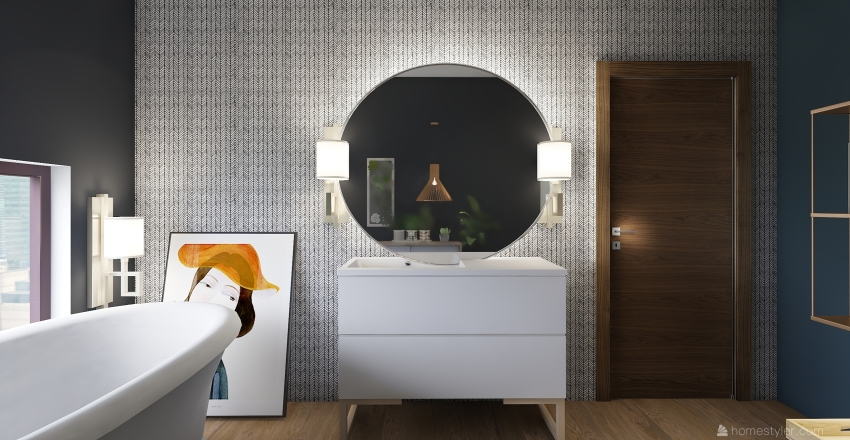 BATHROOM BOHO Interior Design Render