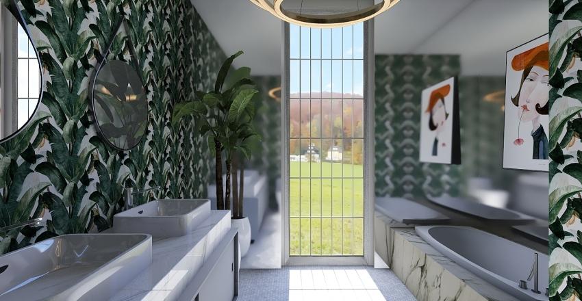 mirror box Interior Design Render