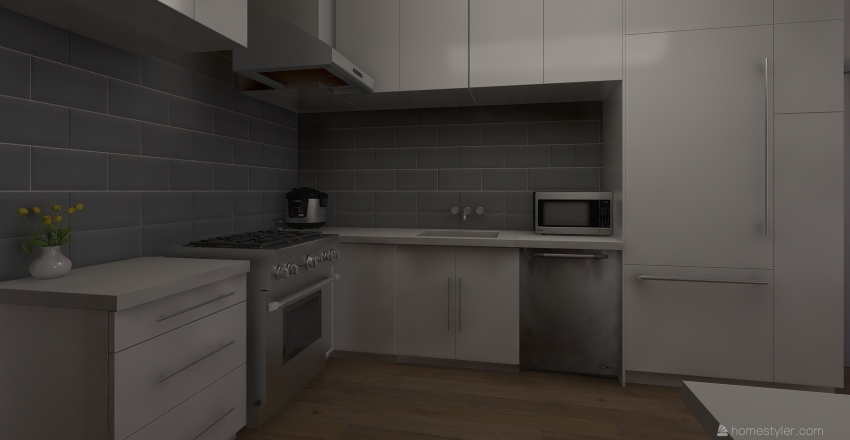 Tiny Apartment Interior Design Render