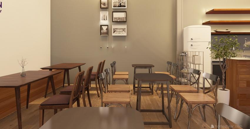Mr Phan coffee Interior Design Render