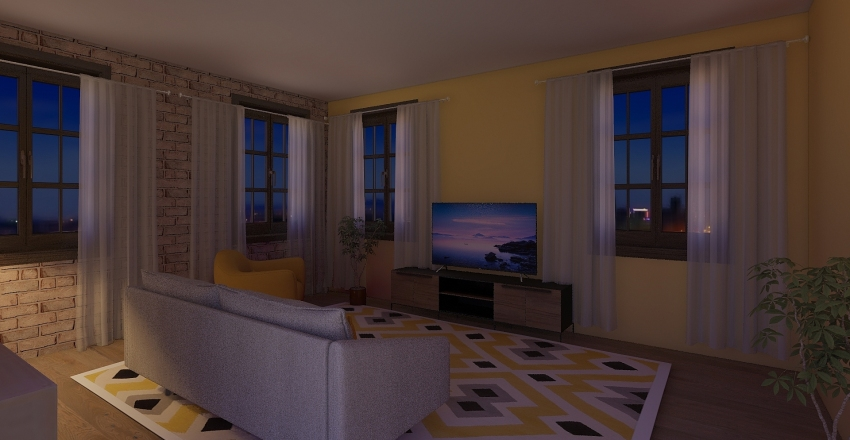 Living Area 10-22-19 Interior Design Render