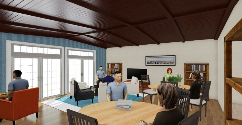Southborough Senior Ctr. - New Addition; 3D panorama view Interior Design Render