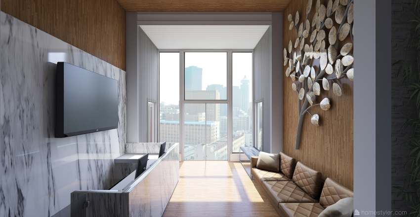 hall albert Interior Design Render