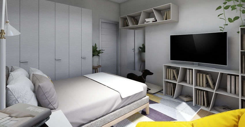 Studentský pokoj Interior Design Render