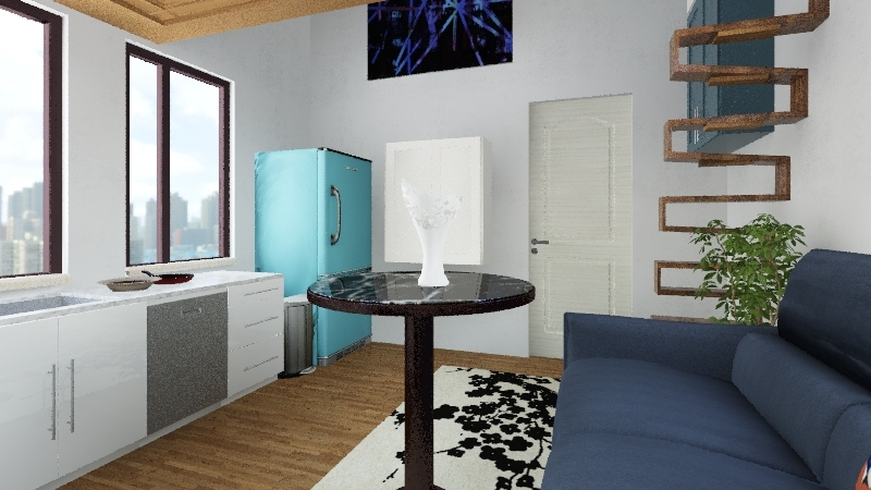 Tiny apartment Interior Design Render