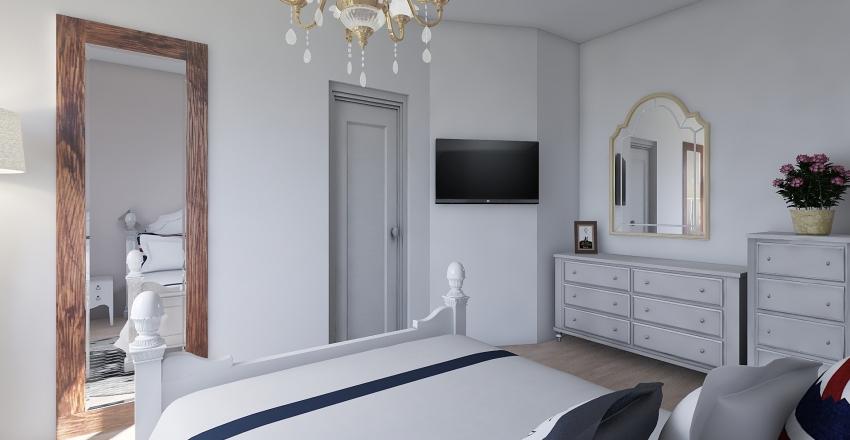 Camera con cabina armadio Interior Design Render