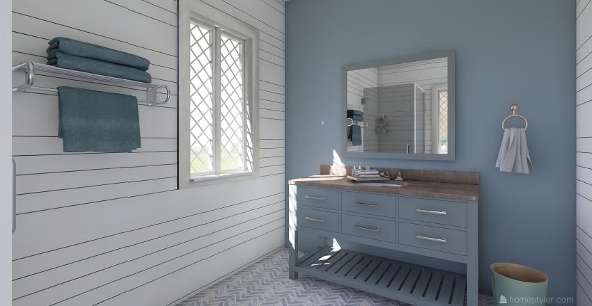 Blue Inn Single Hou. Interior Design Render
