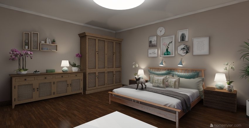 спальня для пенсионерки Interior Design Render