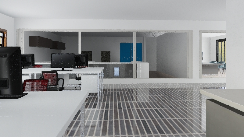 New Office Plan Interior Design Render