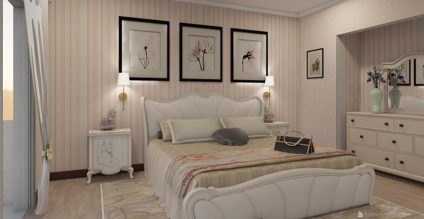 bedroom classic Interior Design Render