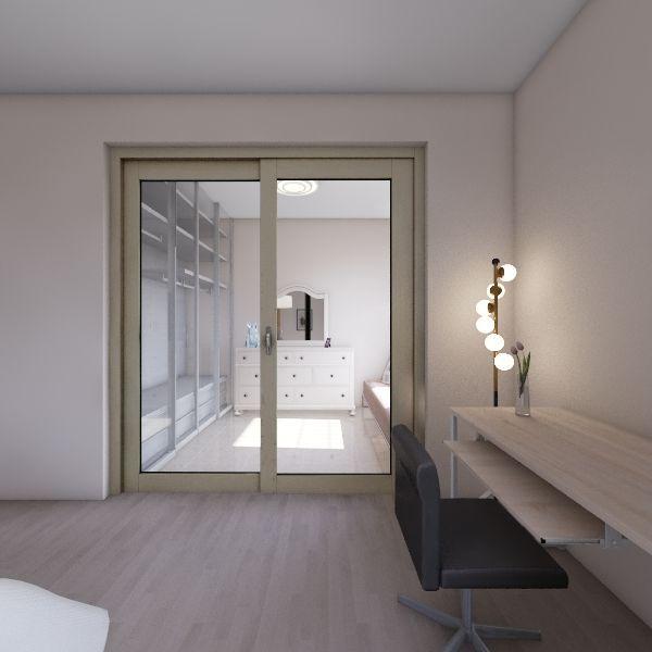 French City Bedroom Interior Design Render