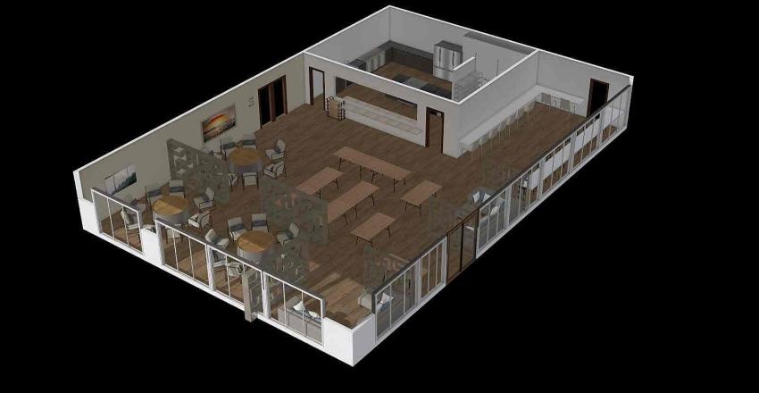 Canteen 2 Interior Design Render