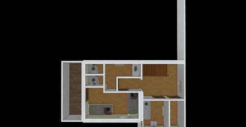 KH US Shower Room Interior Design Render