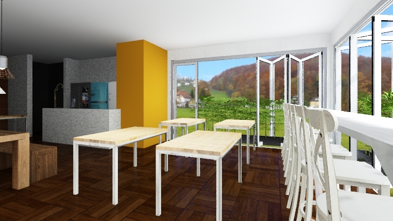 GREEN & BARBEQUE Interior Design Render