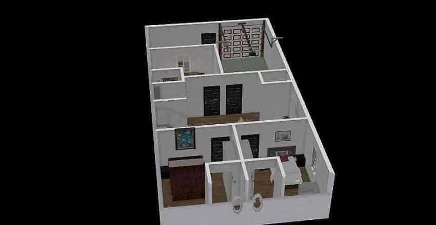 26.6*50 House Plan Interior Design Render