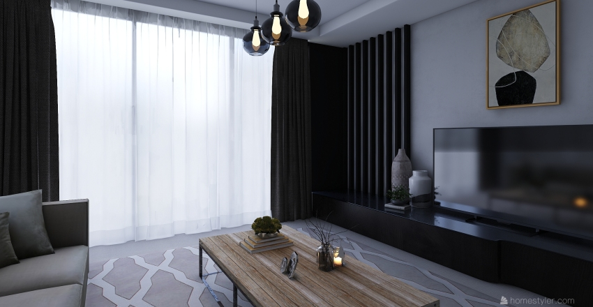 minimal living room Interior Design Render
