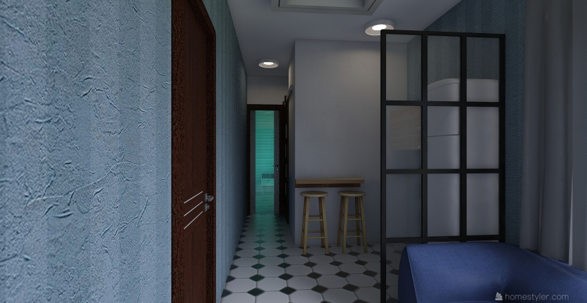 contenedor Interior Design Render