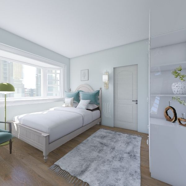 Cute Uptown Apartment Interior Design Render