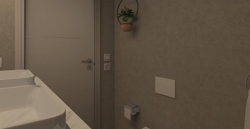 modern loft w/ two bathrooms Interior Design Render