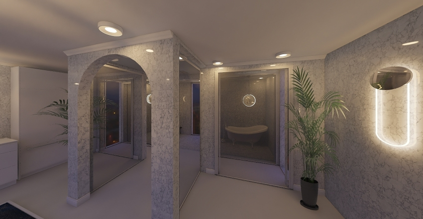 bath Interior Design Render