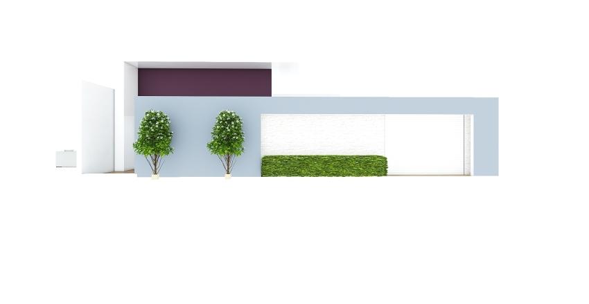 Casa terrea fachada Interior Design Render