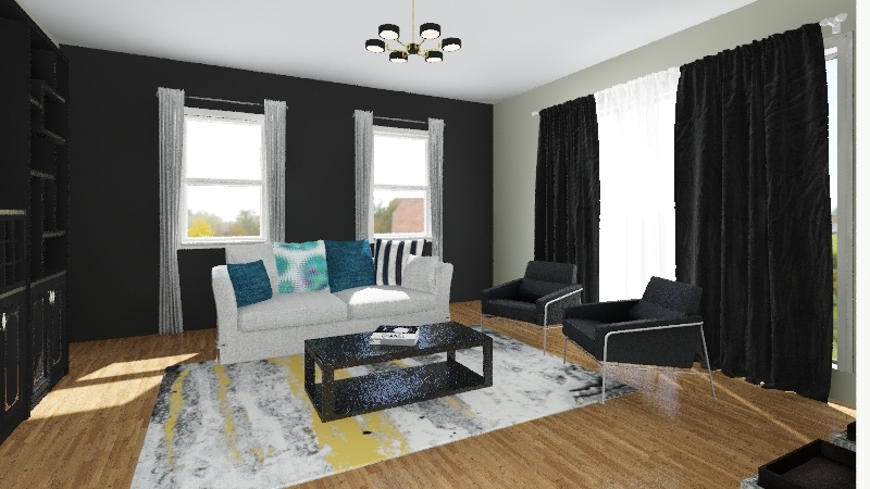 Planning the Living Area - DeShae W. Interior Design Render