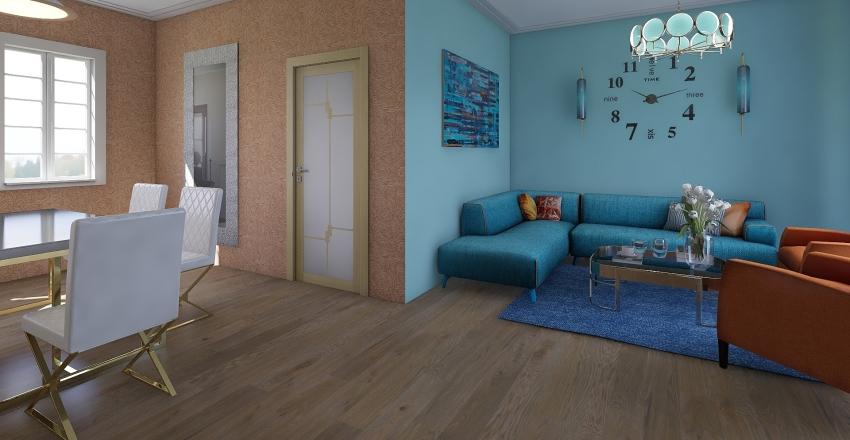 living+dinning Interior Design Render