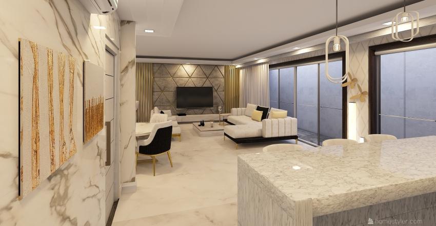 (Muhammad) Pakistan Layout 3 Interior Design Render
