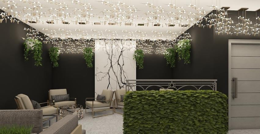 Modern Cafe/Bar Interior Design Render
