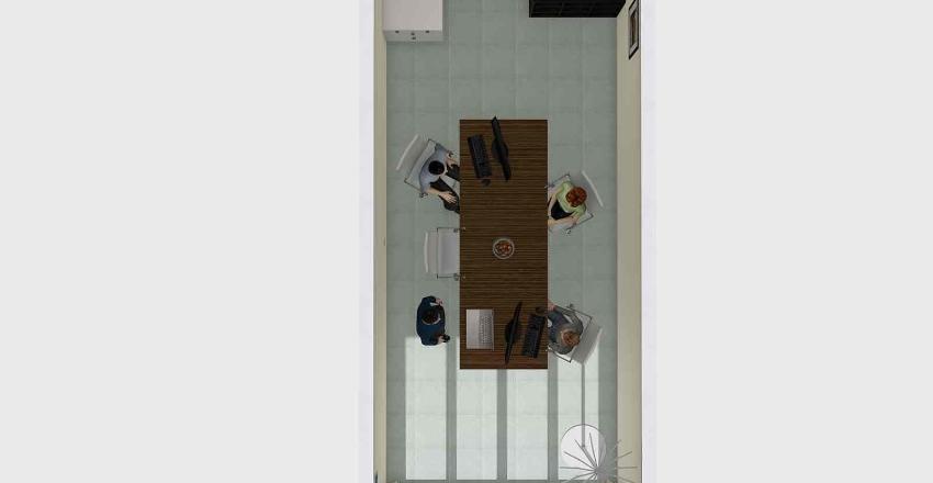 Small Office - Side Desks Interior Design Render