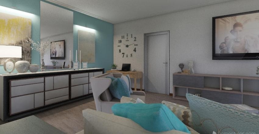 Проект квартиры 1 гостиная Interior Design Render
