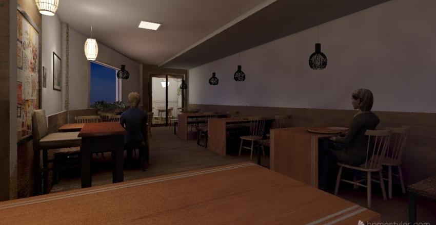 pizzaria Interior Design Render