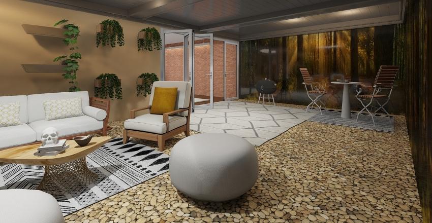 Small Cabin Interior Design Render
