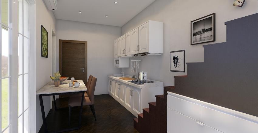 Simple Tiny House Interior Design Render