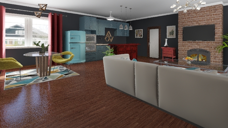 The Home of Tomorrow Interior Design Render