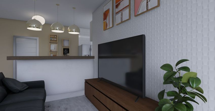 condominio simples Interior Design Render