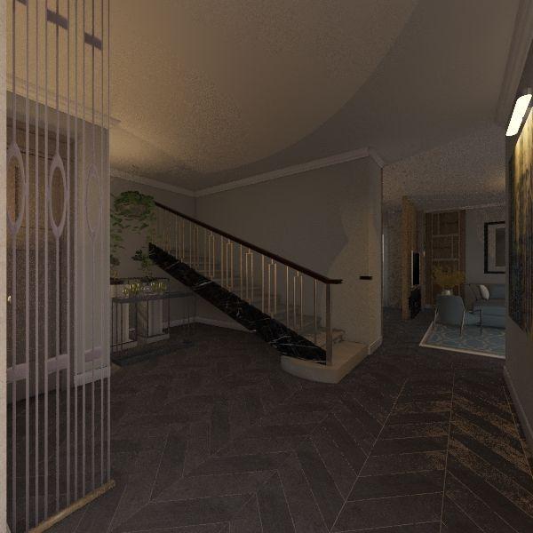 الطابق الارضي Interior Design Render