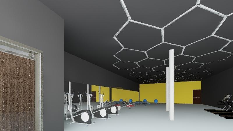 gym Tlajomulco  Interior Design Render