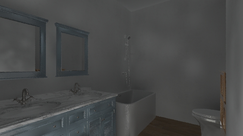 hall bath Interior Design Render