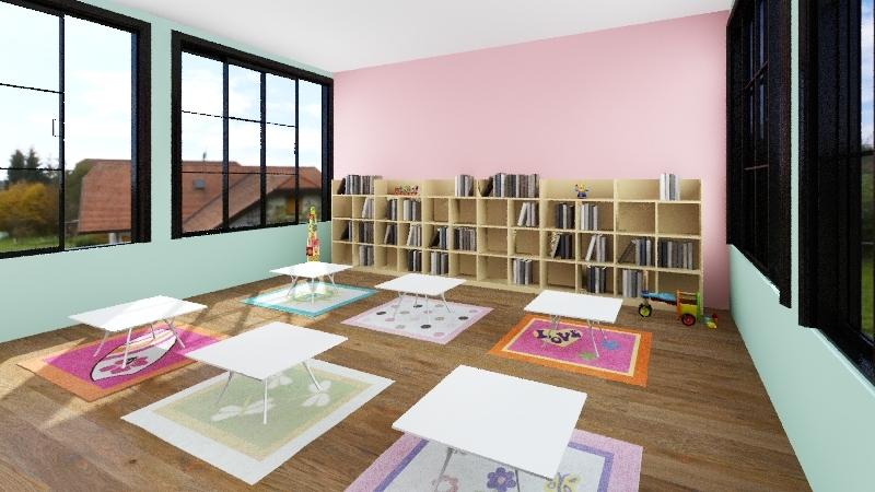 Kids Library Interior Design Render