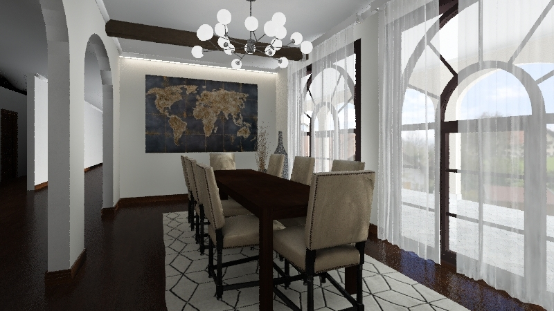 spanish style Interior Design Render
