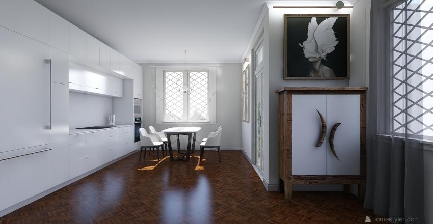 дизайн проект 1 этажа Interior Design Render