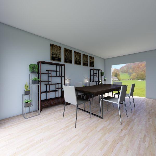 Contemporary Dining Room Interior Design Render