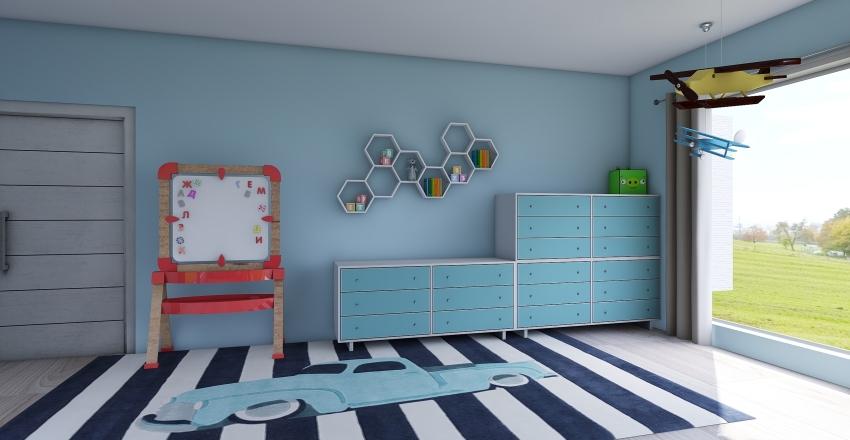 House for family of 5 Interior Design Render