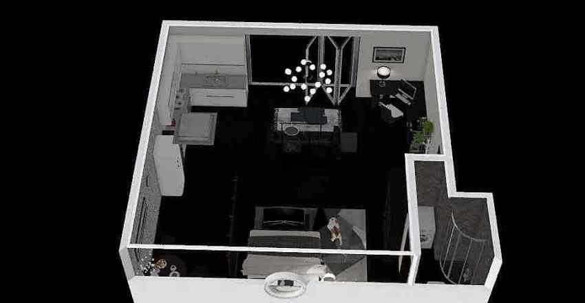 Tiny Mountain Dwelling Interior Design Render