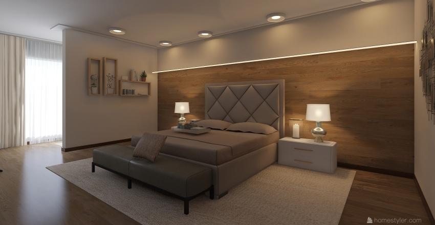 Проект квартиры 1 гостиная и спальни Interior Design Render