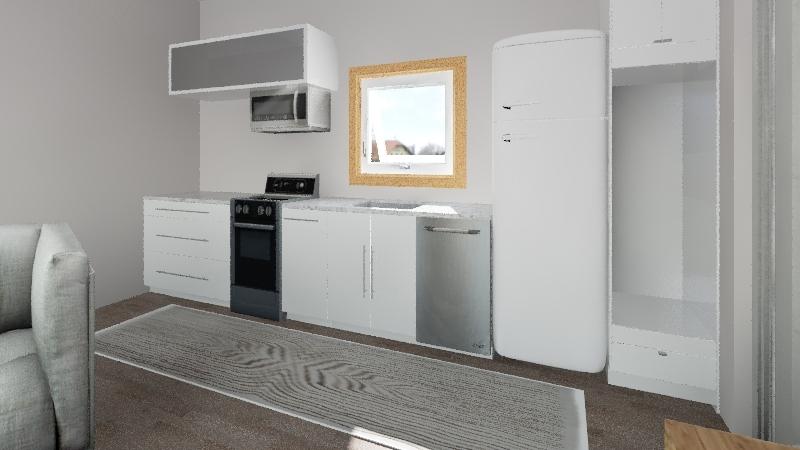 Tiny House 14x24 Interior Design Render