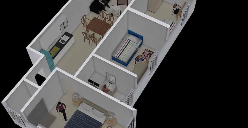 lev zahav big toilet 3br Interior Design Render